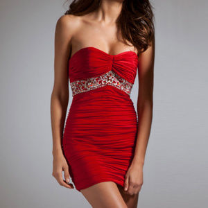 NWT Bodycon Mini Dress Red size 4 & 12 black 6